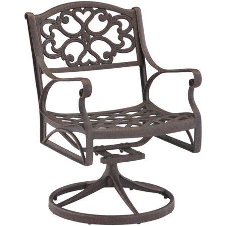 Home Styles Biscayne Outdoor Swivel Arm Chair Multiple Finishes