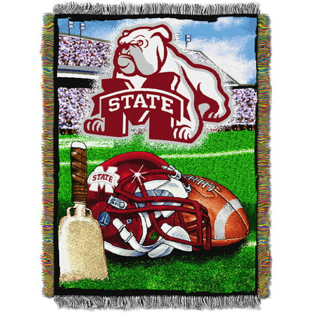 """NCAA 48"""" x 60"""" Tapestry Throw Home Field Advantage Series- Mississippi State"""