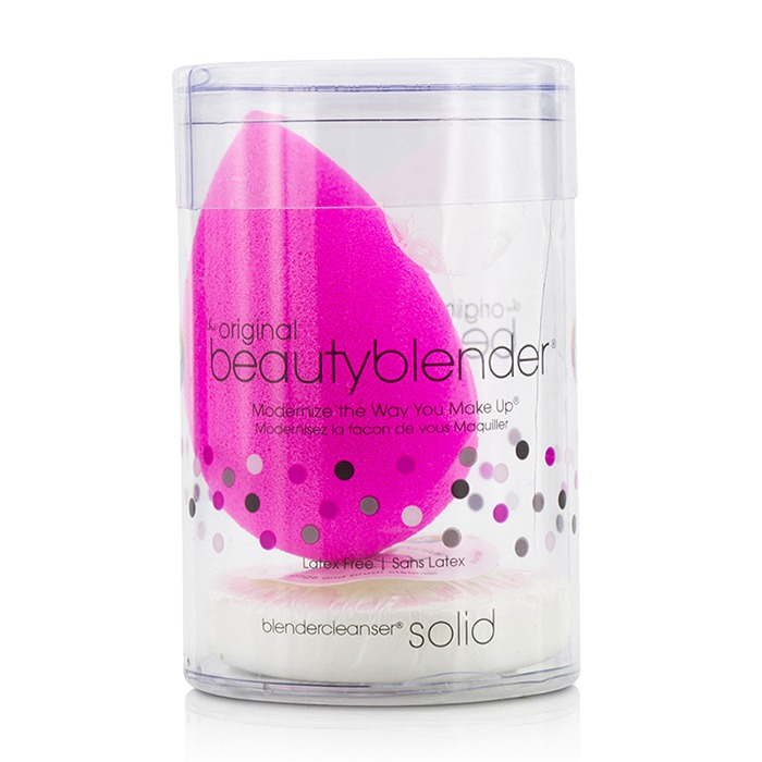BeautyBlender With Mini Solid BlenderCleanser Kit - Original (Pink)-2pcs