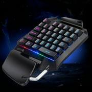 RGB One Hand Keyboard, EEEkit Gaming Keyboard Single-Handed with 35 Keys for PC, Portable Mini Left Hand Keypad RGB Backlit, Wired USB Game Half Keyboard,Compatible for Windows