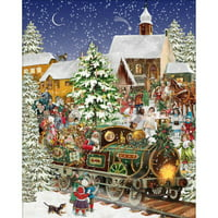White Mountain® Christmas Train Jigsaw Puzzle