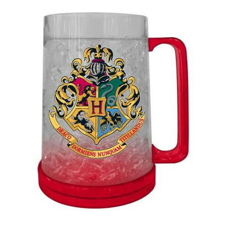 16oz Harry Potter Hogwarts Crest Freeze Gel Plastic Beer Mug](Oktoberfest Plastic Beer Mugs)