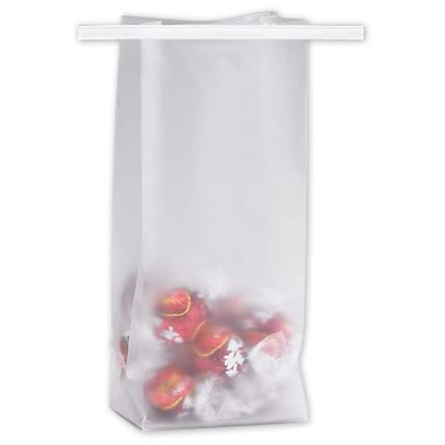 Bags & Bows by Deluxe 265-030207-FHD Clear Frosted Tin-Tie Bags - Case of 250