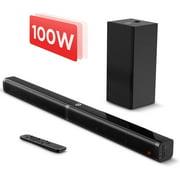 Sound Bar with Subwoofer, Bluetooth 5.0 Bomaker 2.1 CH Soundbar For TVs, 5 EQ Modes, 110dB, LED Display