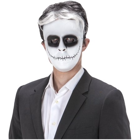 Day Of The Dead Comic Face Skeleton Skellington Face Mask Halloween Costume - Halloween Skellington