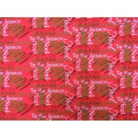DecorDogz Galore J13MD Christmas tis the Season RED Medium Bandana