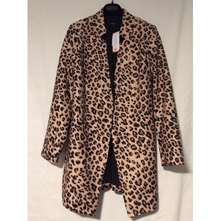 Women Leopard Slim Casual Business Blazer Suit Jacket Coat Outwear Cardigan
