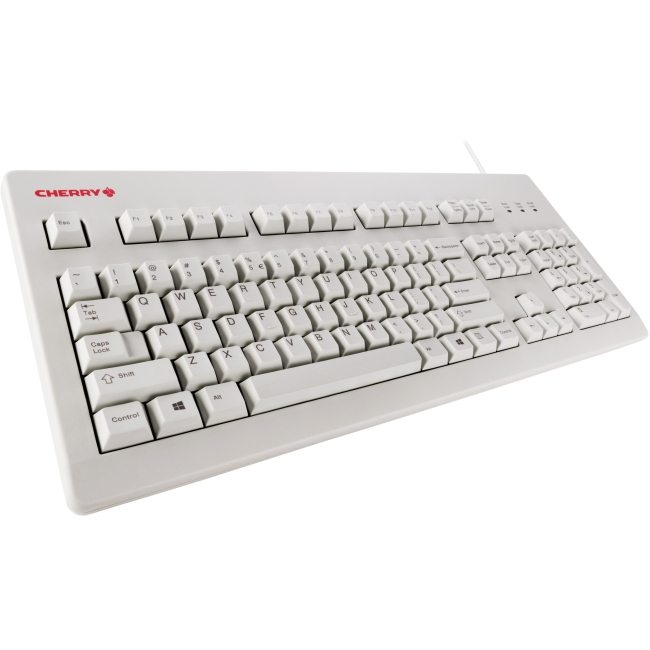 Cherry MX Silent Red Switch Keyboard - USB Adapter (Light Gray)