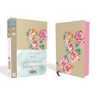 NIV, Journal the Word Bible for Teen Girls, Imitation Leather, Gold/Floral : Includes Hundreds of Journaling Prompts! (Hardcover)