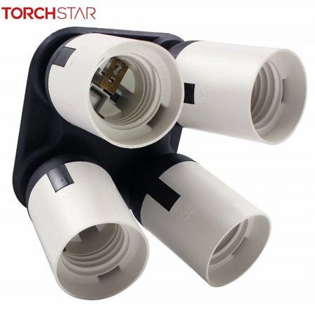 Shop Studio - TORCHSTAR 4 in 1 Anti-burning Socket Converter, for Photo Studio, Work Shop, Garage Lighting