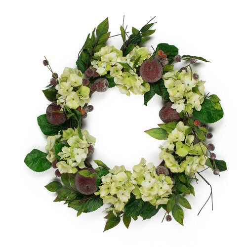 Mills Floral Company 24'' Hydrangea Apple Wreath