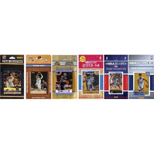 C&I Collectables NBA Denver Nuggets 6 Different Licensed Trading Card Team Sets