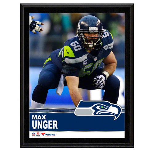 NFL - Max Unger Seattle Seahawks Sublimated 10x13 Plaque