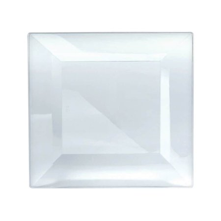 Clear Premium Square Plastic Dinner Plates (Clear Square Plates)