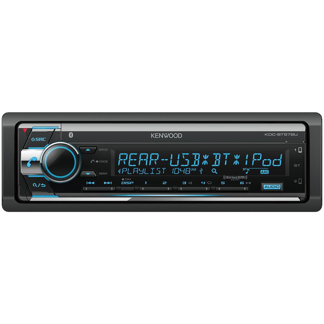 Kenwood KDC-BT572U Single-Din In-Dash CD Receiver With Bluetooth & SiriusXM Ready