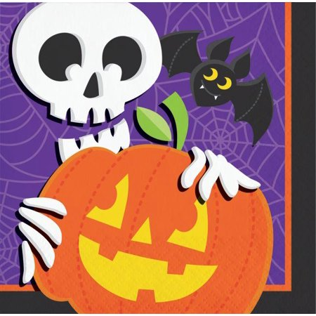 Creative Converting Halloween Skeleton Beverage Napkins, 16 ct](Halloween Cs 1.6)