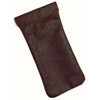 MTL Leather Eyeglass Holder and Case USA Made, Burgundy