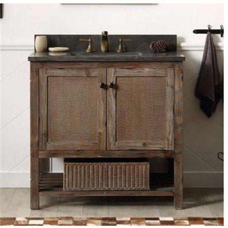 Legion Furniture Single Sink Vanity Rustic Brown 48