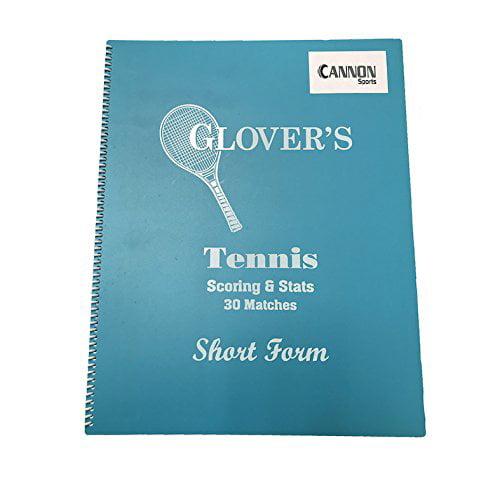 CSI Cannon Sports Tennis Short Form Scorebook (30 Matches)