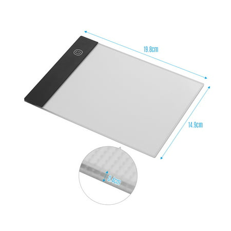 LED A5 Graphic Tablet Light Pad Digital Tablet Copyboard with 3-level Adjustable Brightness for Tracing Drawing Copying Viewing DIY Art Craft Diamond Painting Supplies - image 2 of 7