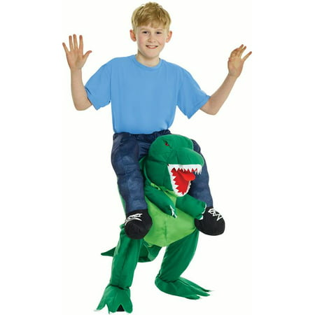 Morphsuits Child T-Rex Piggyback Kids Boy Costume, Green, - Cheap Morphsuits For Kids