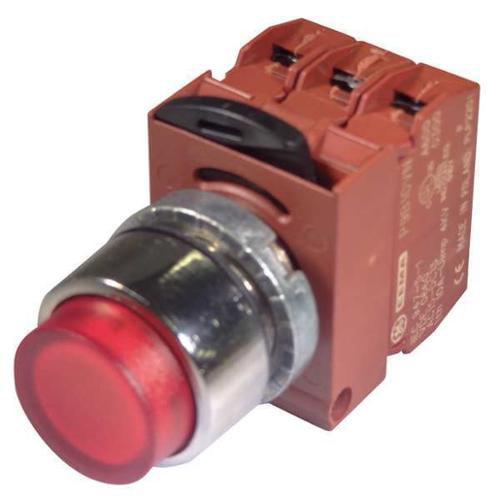 GE P9PLNVJR Illum Push Button Operator,22mm,Red