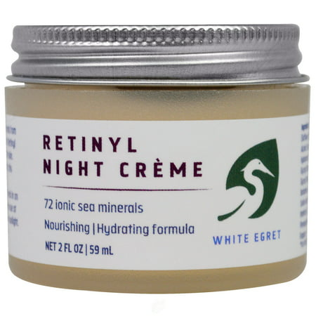 White Egret Personal Care, Inc Hydrating Retinol Night 2 Ounce, Pack of 2 0.5 Ounce Night Care