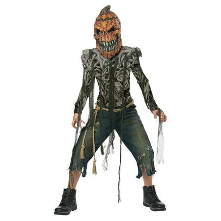 Boys Pumpkin Creature Monster - Boo Monster Costume