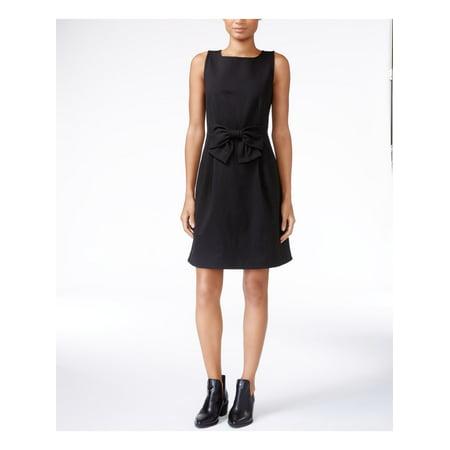 MAISON JULES Womens Black Sleeveless Jewel Neck Above The Knee Sheath Dress  Size: L Black Sheath Dress