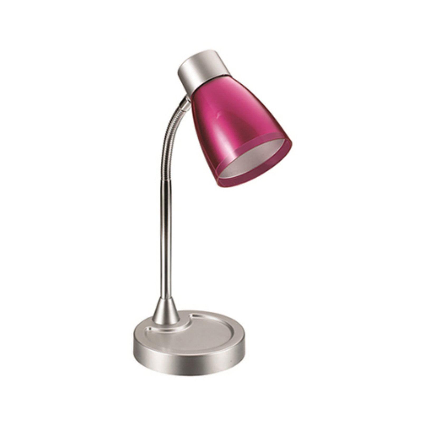 LimeLights Flashy Flexible Gooseneck LED Desk Lamp, Metallic Pink