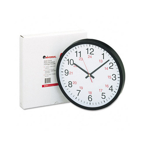 Universal 12.75'' 24-Hour Wall Clock