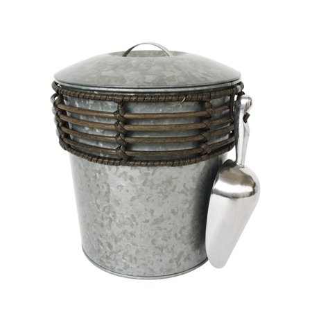 Better Homes & Gardens Galvanized Rattan Ice Bucket