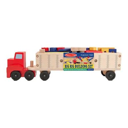 Melissa & Doug Big Rig Truck Wooden Building Set (22 pcs) Big Rig Truck Games