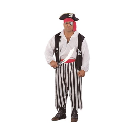 Pirate Man Costume Plus Size - Treasure Island Pirate Costume