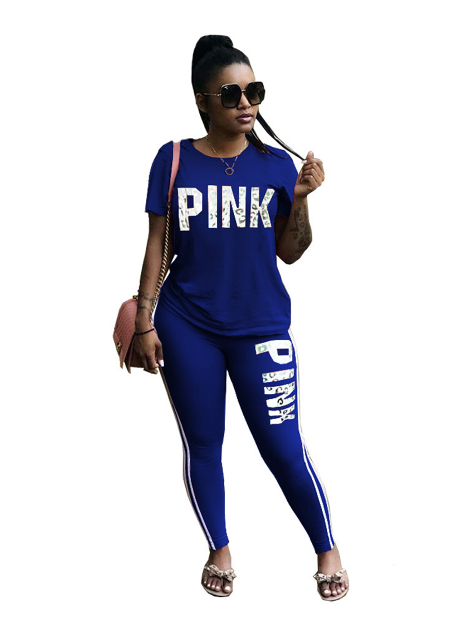 Women Jogging Tracksuit Co Ord Sports Jumper Pants Sweat Suit Gym Lounge Outfits