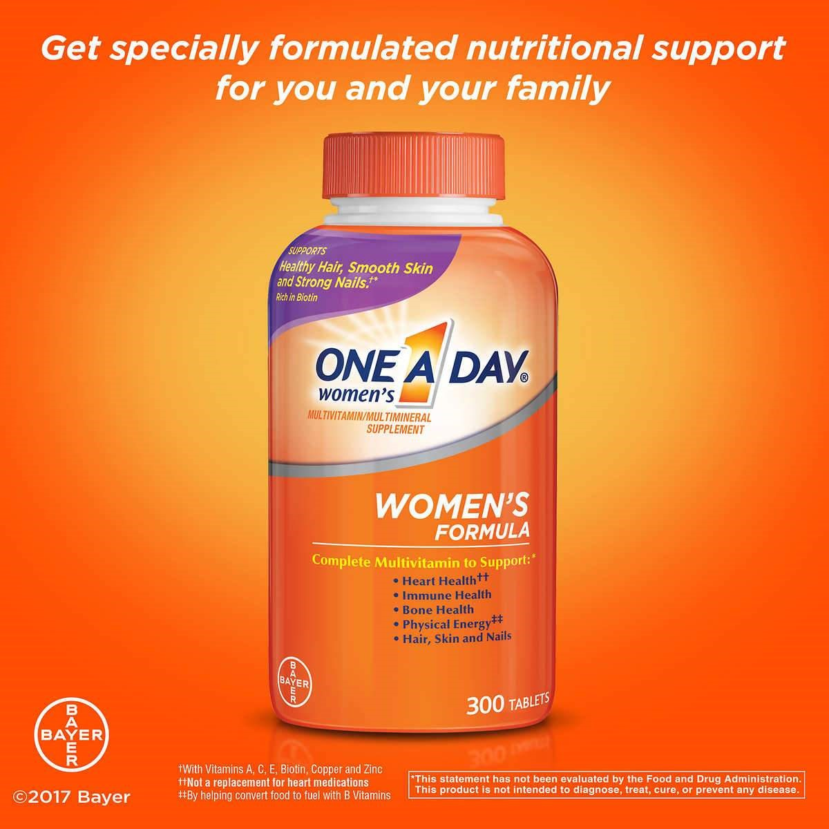 One A Day Women S Multivitamin 300 Tablets Walmart Com