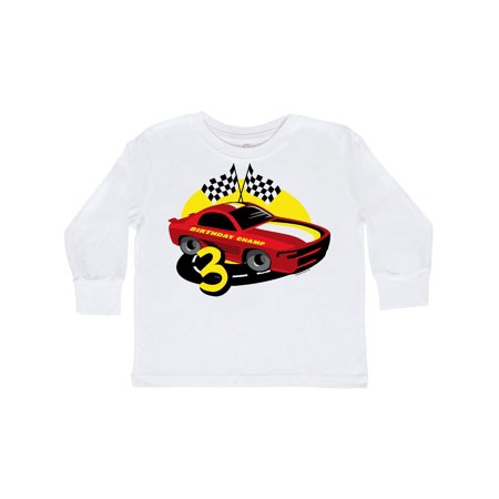 Race Car 3rd Birthday Toddler Long Sleeve T-Shirt](70s Items)