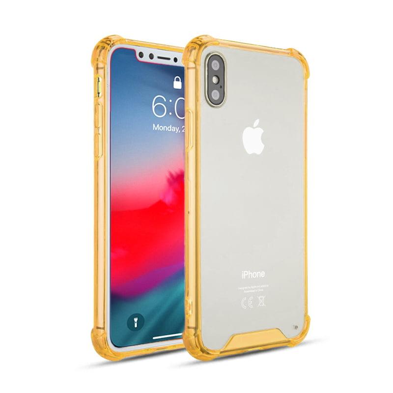 "Apple iPhone X MAX (6.5"") Full Body TPU Transparent Bumper Premium Hybrid Protective Clear Case"