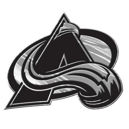Colorado Avalanche Silver Auto Emblem Decal Sticker