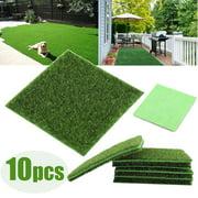 LHCER 10 PCS Artificial Grass Mat Turf Lawn Garden Micro Landscape Ornament Home Decor, Artificial Turf, Synthetic Lawn