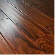 "BuildDirect Acacia Handscraped Cognac 3mm Thick RL X 4.75"" Engineered Hardwood Flooring (33.1 sq ft per box)"