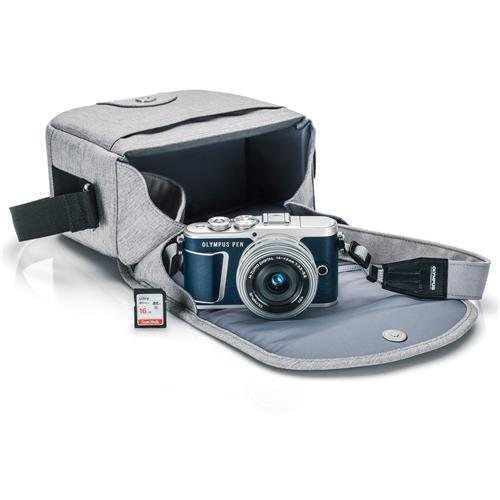 Olympus PEN E-PL9 16.1MP Mirrorless Camera with M.Zuiko Digital 14-42mm F3.5-5.6 EZ Lens, Denim Blue