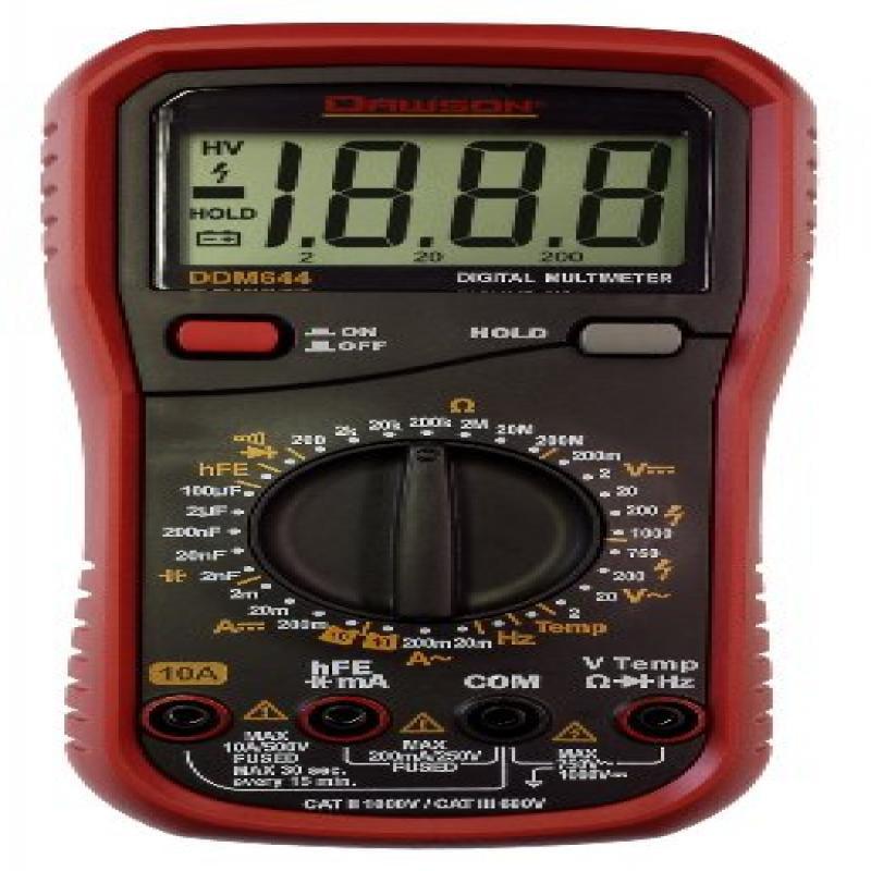 Dawson DDM644 Digital Multimeter w/Temperature