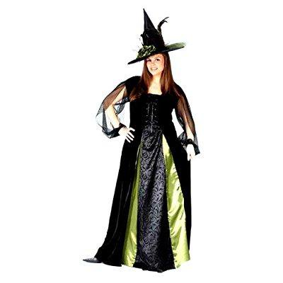 funworld women's plus goth maiden witch, black, 16w-24w costume](Goth Plus Size)