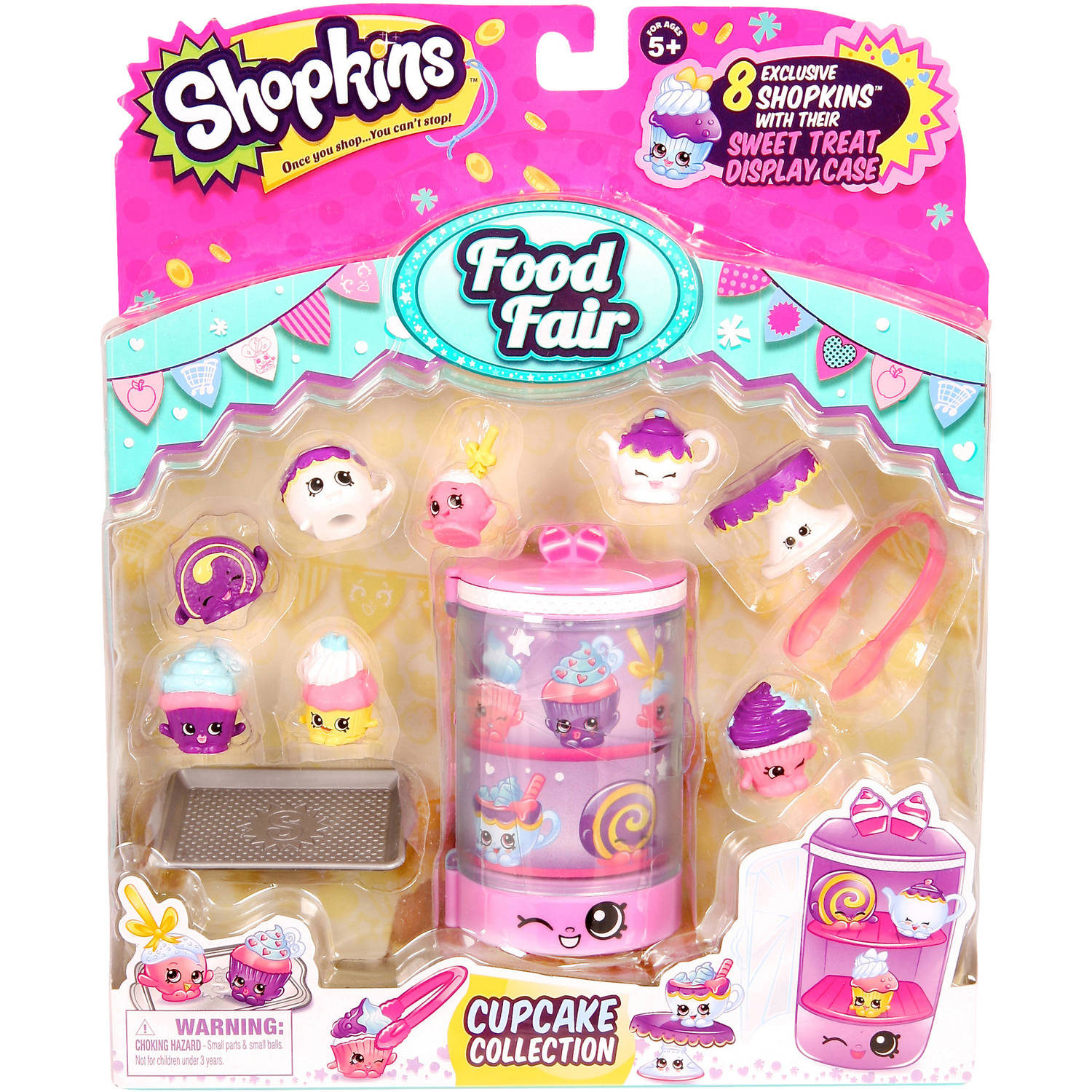 Moose Toys Shopkins Season 3 Food Fair Themed Packs Cupcake Collection
