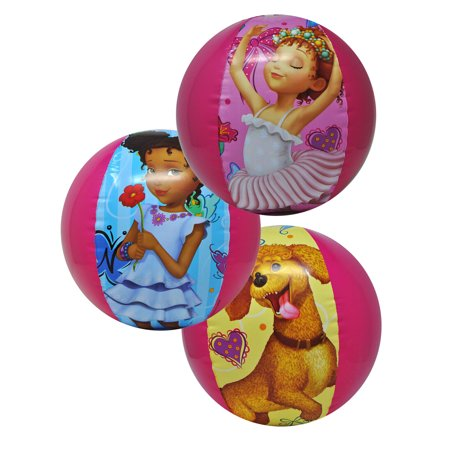 3 Packs Girls Fancy Nancy Frenchy Bree Inflatable Beach Ball 13.5