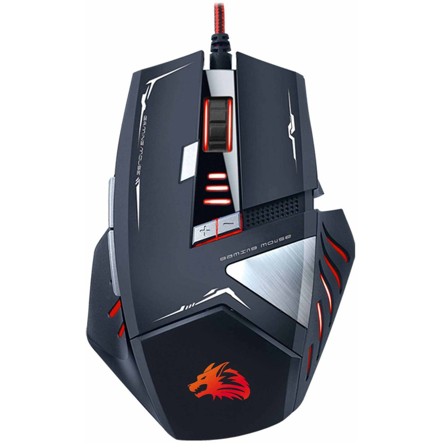 Rocksoul RSMS-00215 8D Optical Gaming Mouse, Black