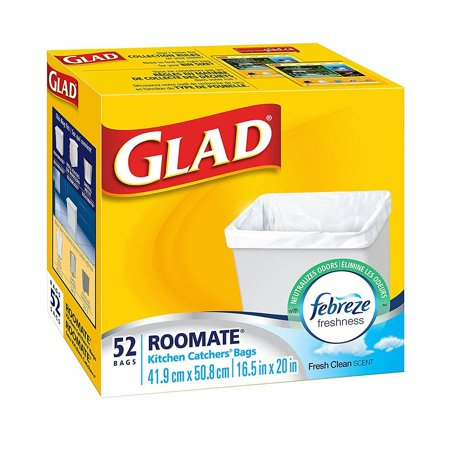 Glad Roomate Kitchen Catchers Garbage Bags With Febreze