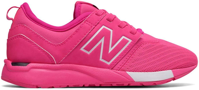 New Balance Girls' KA247PWP, Pink/White, 3 Wide US Little Kid