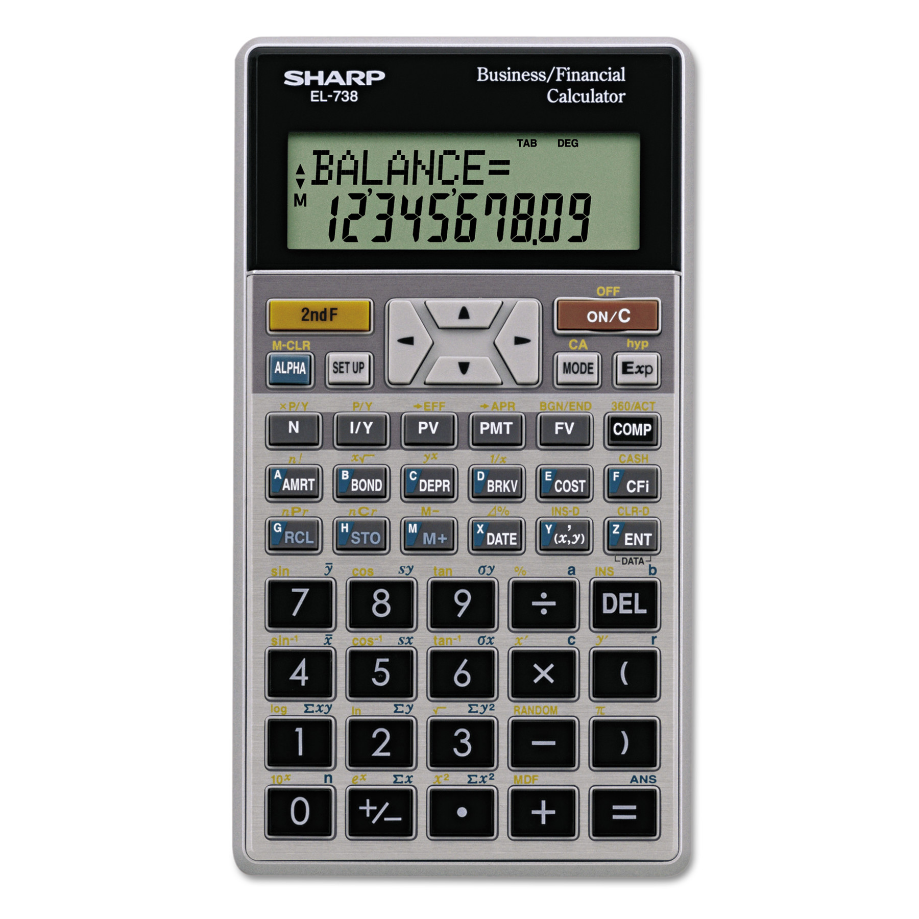Sharp ElC Financial Calculator Digit Lcd  WalmartCom